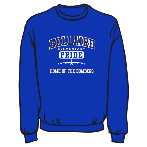 BELLAIRE ELEMENTARY SPIRIT WEAR: SWEATSHIRT  TAKING ORDERS THROUGH SEPTEMBER 24TH