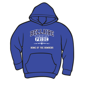 BELLAIRE ELEMENTARY SPIRIT WEAR: HOODIE  TAKING ORDERS THROUGH SEPTEMBER 24TH