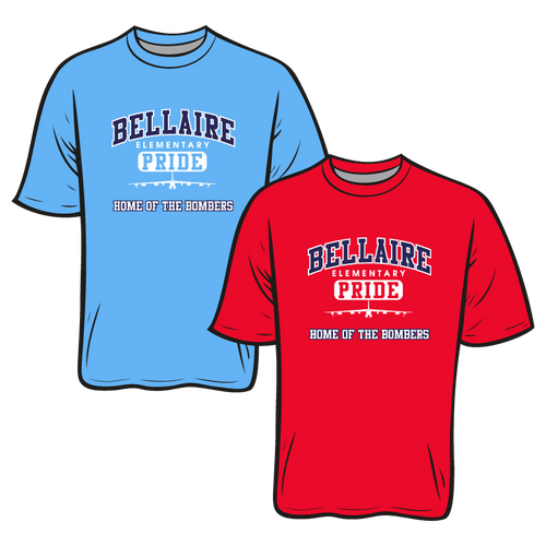 BELLAIRE ELEMENTARY SPIRIT TEES: SHORT SLEEVE  TAKING ORDERS THROUGH SEPTEMBER 24TH