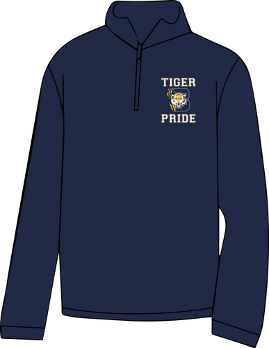 BENTON HIGH SCHOOL - 1/4 ZIP CADET STYLE SWEATSHIRT ***AVAILABLE  TO ORDER THROUGH DEC 9TH