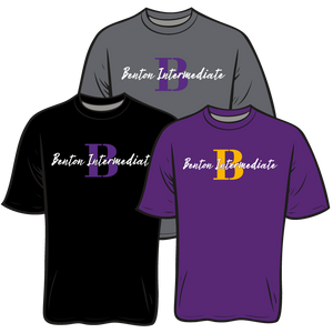 BENTON INTERMEDIATE: DRI FIT TEES.......** PLEASE PUT STUDENTS GRADE FOR THE HOMEROOM TEACHER **ORDERS TAKEN THROUGH JULY 15TH. PICK UP DATE AND TIME TO BE ANNOUNCED THROUGH THE SCHOOL