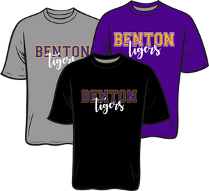 BENTON MIDDLE SCHOOL: SHORT SLEEVE TEE   ***PLEASE PUT STUDENTS GRADE IN PLACE OF TEACHER NAME    ***ORDERS TAKEN THROUGH NOV 7TH CURSVE TIGERS)