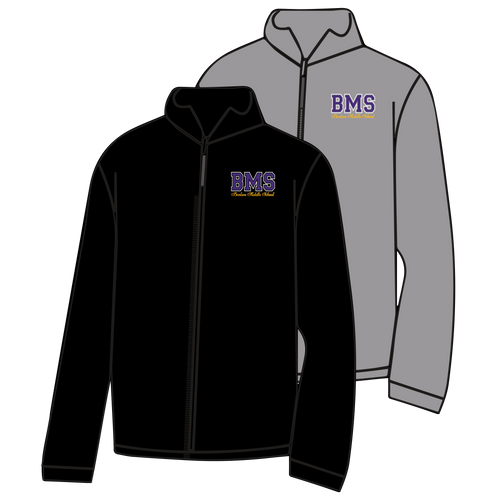BENTON MIDDLE SCHOOL: BMS FULL ZIP JACKET   ***PLEASE PUT STUDENTS GRADE IN PLACE OF TEACHER NAME    ***ORDERS TAKEN THROUGH OCT 7THBMS)