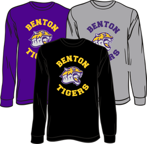 BENTON MIDDLE SCHOOL: LONG SLEEVE TEE   ***PLEASE PUT STUDENTS GRADE IN PLACE OF TEACHER NAME    ***ORDERS TAKEN THROUGH JULY 24TH