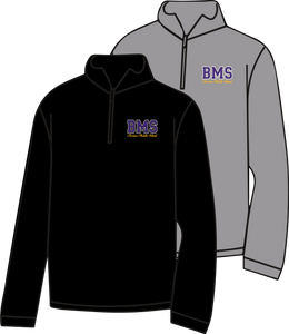 BENTON MIDDLE SCHOOL: BMS ONLY 1/4 ZIP SWEATSHIRT  ***PLEASE PUT STUDENTS GRADE IN PLACE OF TEACHER NAME    ***ORDERS TAKEN THROUGH AUGUST 25TH(BMS)