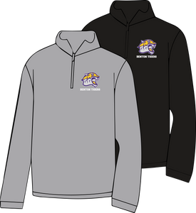 BENTON MIDDLE SCHOOL: TIGER HEAD W/ WORDS 1/4 ZIP SWEATSHIRT   ***PLEASE PUT STUDENTS GRADE IN PLACE OF TEACHER NAME    ***ORDERS TAKEN THROUGH