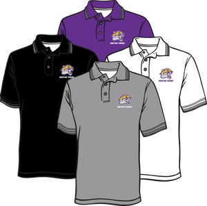 BENTON MIDDLE SCHOOL: DRI FIT POLO TIGER HEAD WITH WORDS POLO   ***PLEASE PUT STUDENTS GRADE IN PLACE OF TEACHER NAME    ***ORDERS TAKEN THROUGH