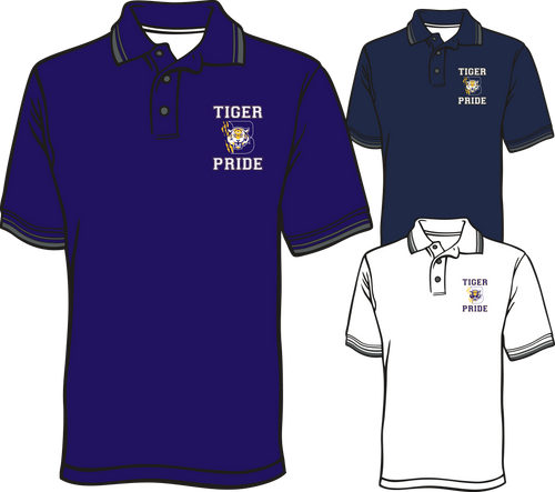 BENTON HIGH:  SCREEN PRINTED DRI-FIT POLO **PLEASE PUT STUDENT'S 1ST BLOCK TEACHER NAME* AVAILABLE TO ORDER THROUGH NOVEMBER 29TH