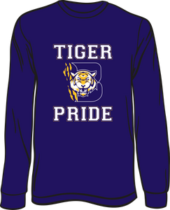 BENTON HIGH: LONG SLEEVE SPIRIT TEE- PLEASE PUT STUDENT'S 1ST BLOCK TEACHER NAME* AVAILABLE TO ORDER THROUGH NOVEMBER 29TH