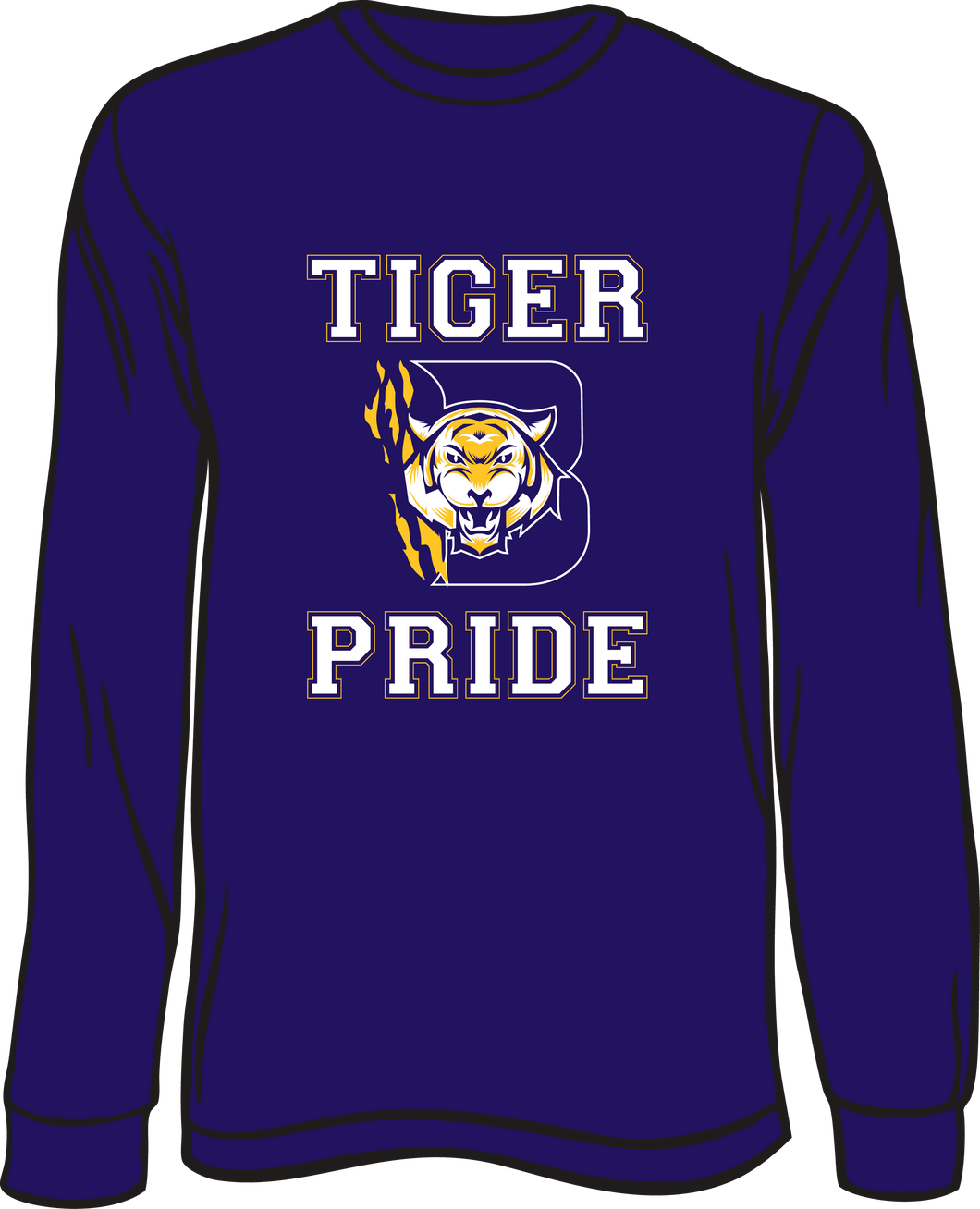 BENTON HIGH: LONG SLEEVE SPIRIT TEE- **AVAILABLE TO ORDER THROUGH JANUARY 31ST