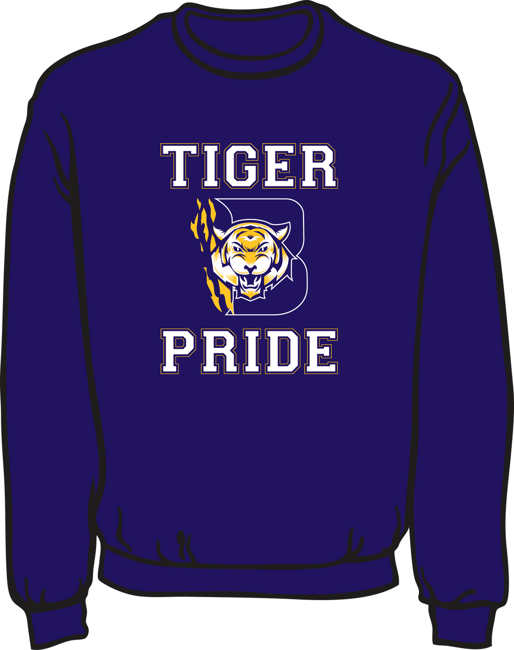 BENTON HIGH: SPIRIT SWEATSHIRT  **PLEASE PUT STUDENT'S 1ST BLOCK TEACHER NAME* AVAILABLE TO ORDER THROUGH OCT 6TH