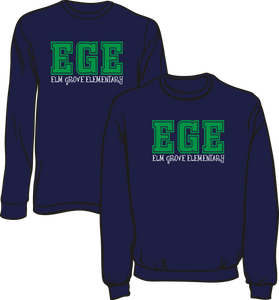 ELM GROVE ELEMENTARY -  LONG SLEEVE TEES - ORDERS TAKEN THROUGH OCTOBER 25TH.  ORDERS WILL BE DELIVERED TO THE SCHOOL UPON PRINTING AFTER THAT DATE.