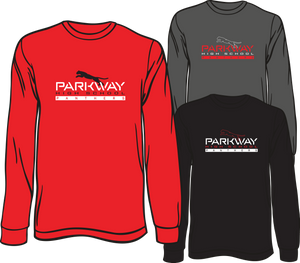 PARKWAY HIGH 2019-2020 LONG SLEEVE SPIRIT TEE **ORDERS TAKEN THROUGH JANUARY 31ST ***PLEASE PUT STUDENT'S 1ST BLOCK TEACHER*