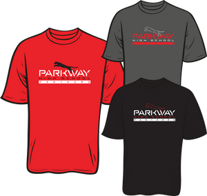 PARKWAY HIGH 2020-2021 SHORT SLEEVE SPIRIT TEE **ORDERS TAKEN THROUGH JULY 29TH  **PLEASE PUT GRADE IN PLACE OF TEACHER