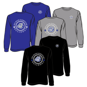 "RED RIVER ELEMENTARY - LONG SLEEVE ""CIRCLE"" TEE  **ORDERS WILL BE TAKEN THROUGH  OCT  17TH"
