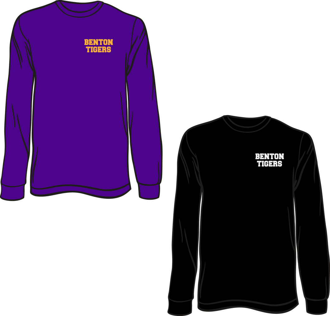 BENTON MIDDLE SCHOOL: DRI FIT LONG SLEEVE TEE   ***PLEASE PUT STUDENTS GRADE IN PLACE OF TEACHER NAME    ***ORDERS TAKEN THROUGH OCT 7TH