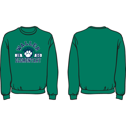 WALLER ELEMENTARY SPIRIT SWEATSHIRT  *AVAILABLE TO ORDER NOVEMBER 4-NOVEMBER 27* ALL ORDERS WILL BE SHIPPED TO SCHOOL THE FIRST WEEK OF DECEMBER!!