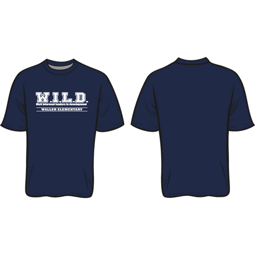 WALLER ELEMENTARY SPIRIT TEE: WILD  *AVAILABLE TO ORDER OCTOBER 16-OCTOBER 31* ALL ORDERS WILL BE SHIPPED TO THE SCHOOL!!