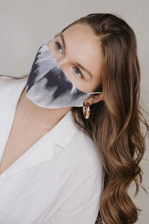 Cotton tie-dye face mask