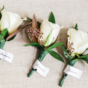White Rose Boutonniere/Corsage