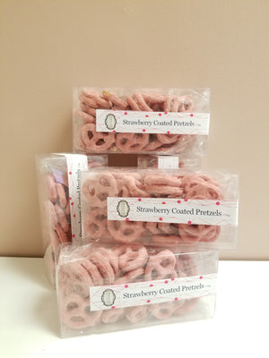 Dolce Chocolate Co. Strawberry Coated Pretzels