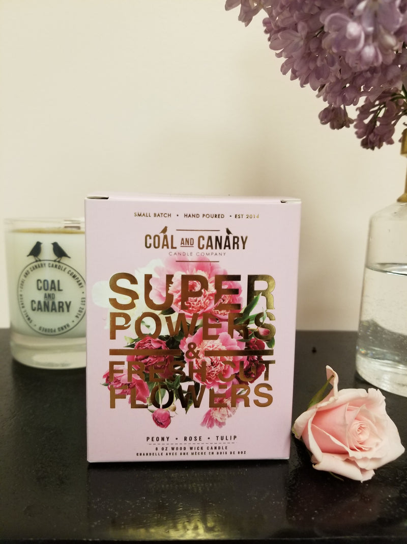 Coal & Canary Candle Co - Super Powers & Fresh Cut Flowers