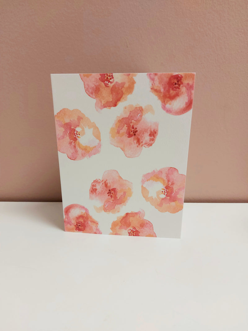 Forever & Always Donation Card- Blush Poppies