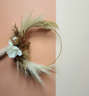 Dried floral wreath