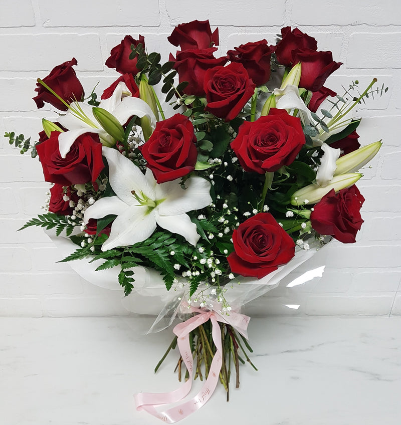 24 Roses and Lilies Deluxe