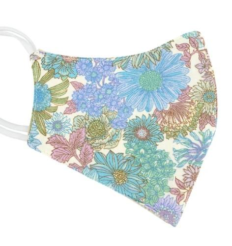 Muted floral print face mask