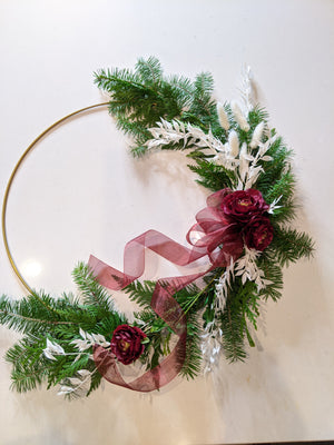 DIY-Gold Hoop Holiday Wreath
