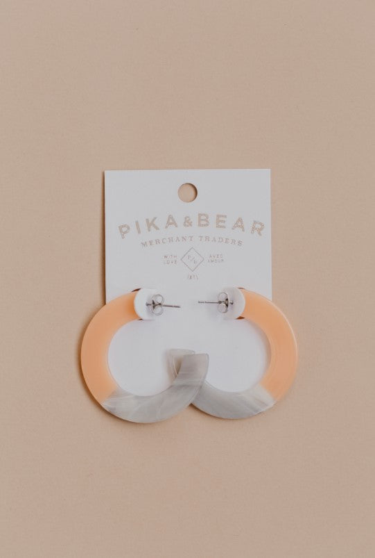Pika & Bear MOD Acetate Hoop Earrings