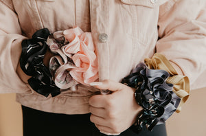Luxury Satin Trim Scrunchies