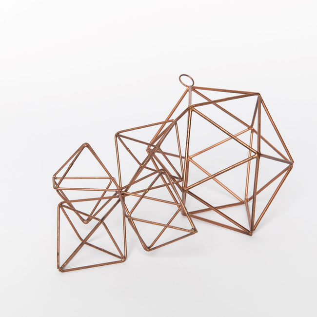 Copper Geo Ornament