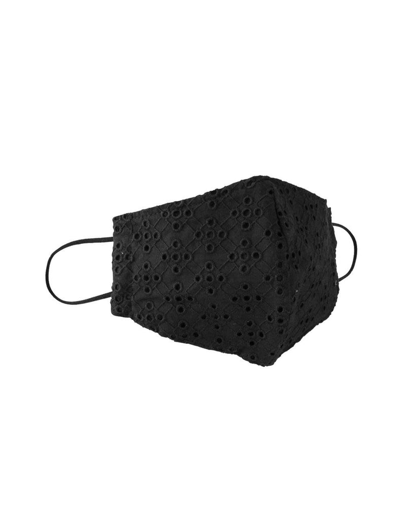 Black eyelet face mask