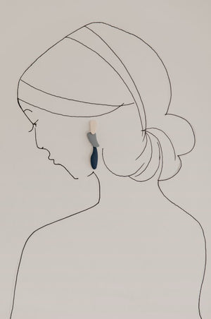 Pika & Bear Painterly Layered Drop Earrings