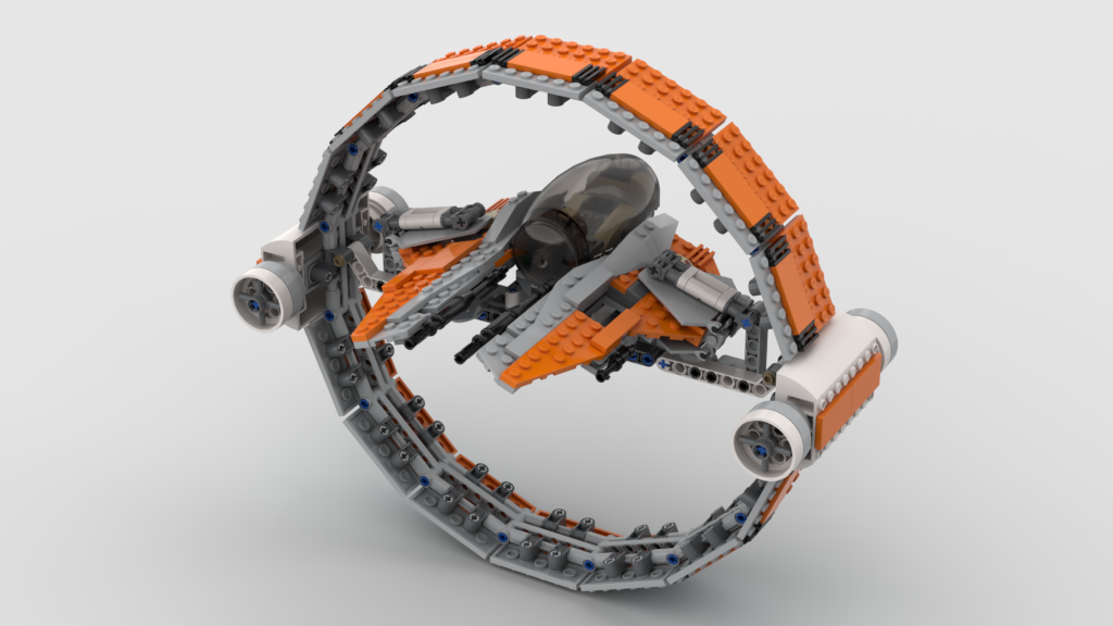 EETH KOTH ORANGE AND GRAY JEDI INTERCEPTOR