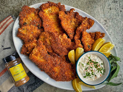 Thanksgiving Turkey Schnitzel with Sauerkraut Tartar Sauce