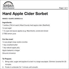 Hard Apple Cider Sorbet