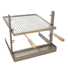 SpitJack ALL Stainless Tuscan Fireplace and Camping Grill