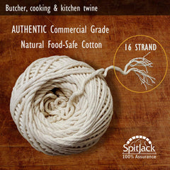 SpitJack Meat Trussing Needle, Butcher's Cooking Twine and Utility Scissors Bundle
