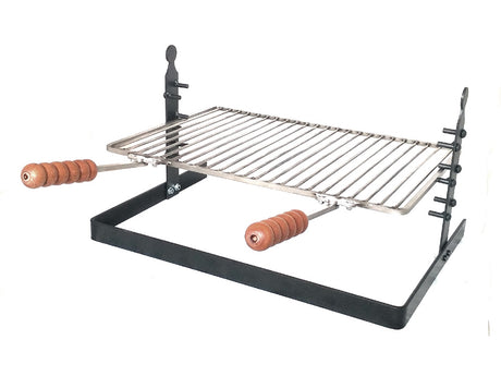 Adjustable Tuscan Fireplace & Camping Grill - Stainless