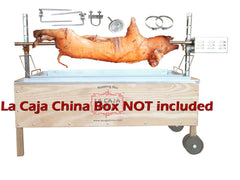 Pig, Hog, and Lamb Spit Roast Rotisserie Pit Kit for La Caja China Box - CJC75