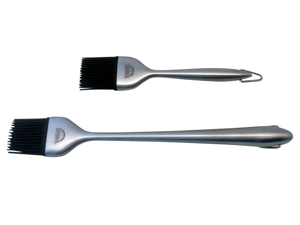 SpitJack Silicone & Stainless BBQ Brush Set