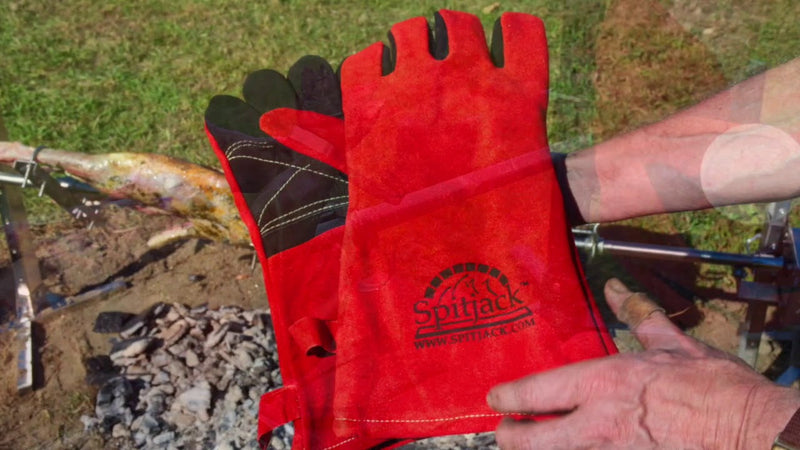 SpitJack Deluxe Fireplace - Barbecue Gloves FP