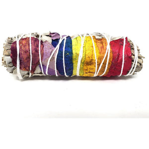 Seven Chakra Sage with Rose Petals - small