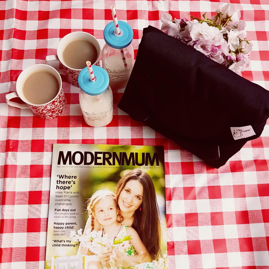 The Wriggler changing mat featured in ModernMum magazine