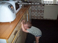 toddler tantrum funny memes microwave ate food