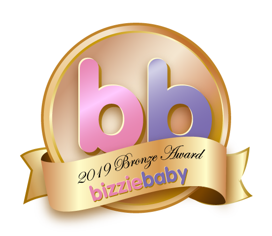 Independent mom product testers from Bizzie Baby award The Wriggler changing pad in best diaper changing accessory category
