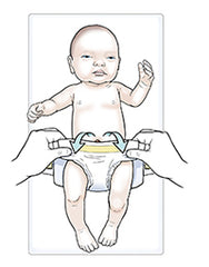 nappy changing with umbilical cord stump